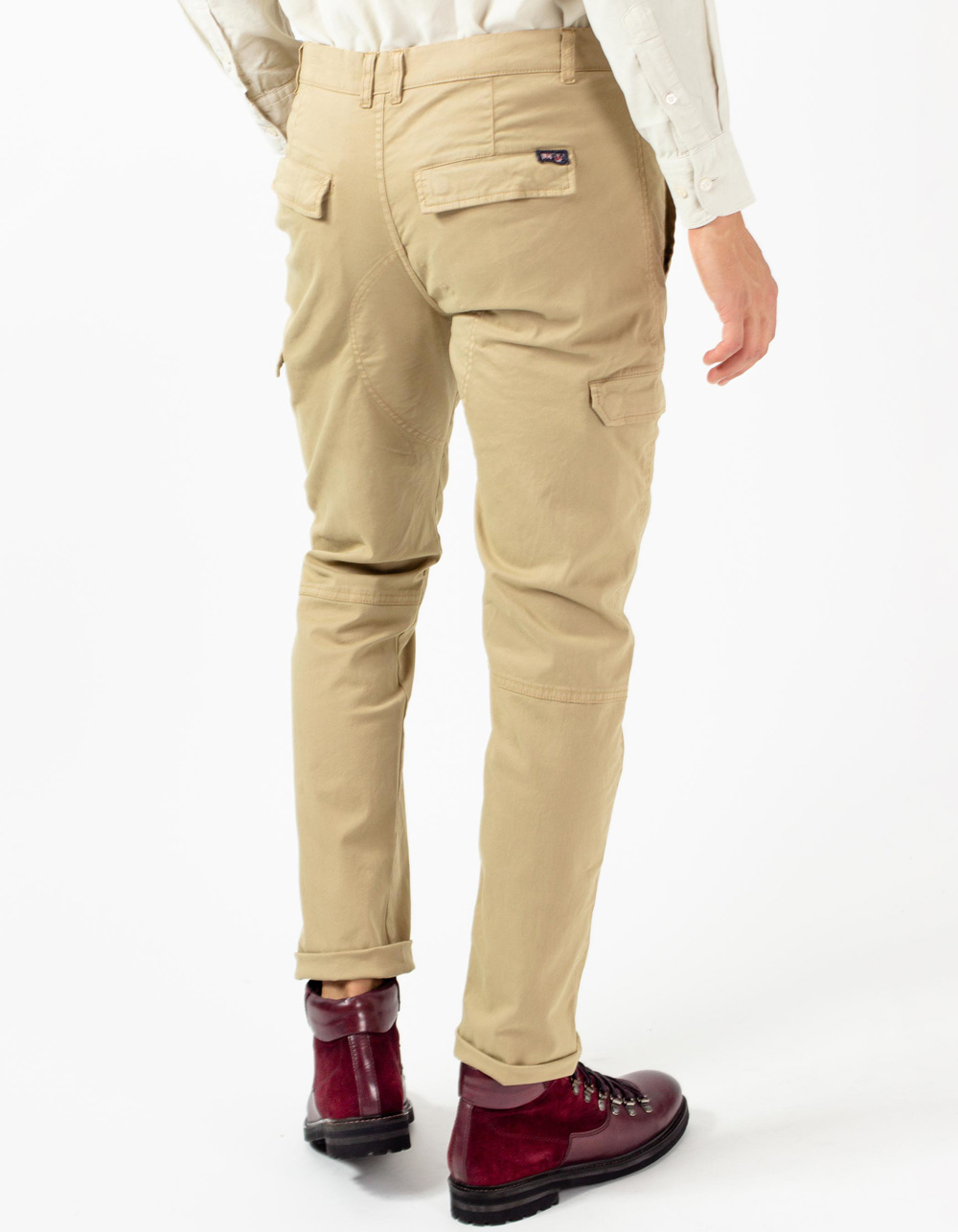 Camel cargo trousers - Backside