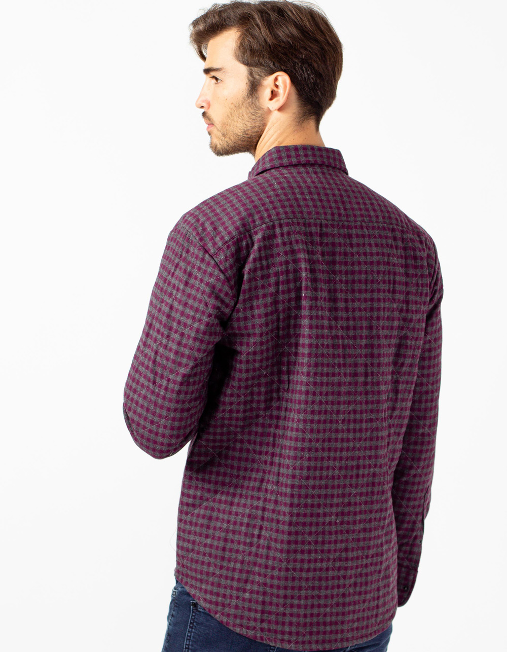 Lilac quilted overshirt - Backside