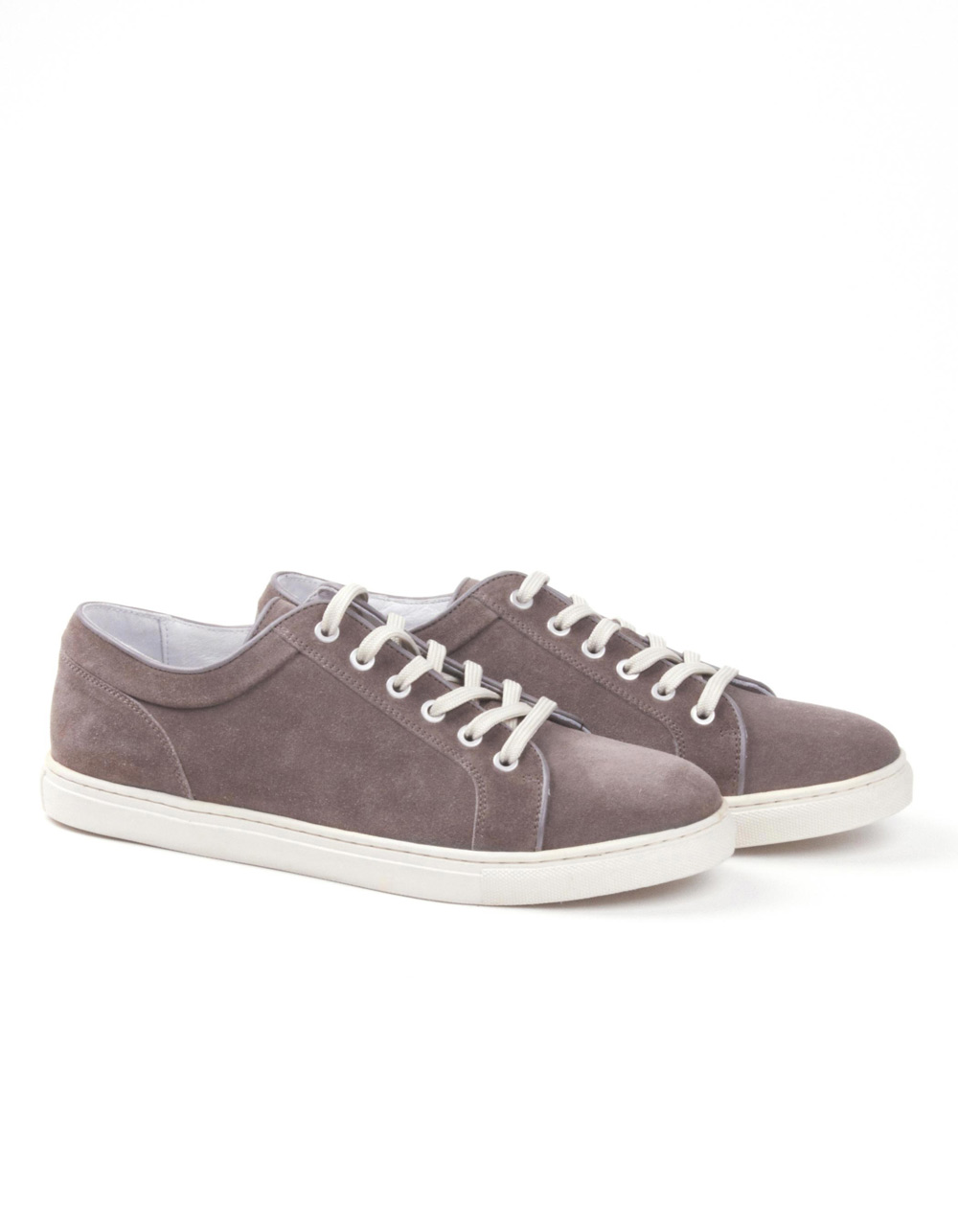 Taupe suede sports