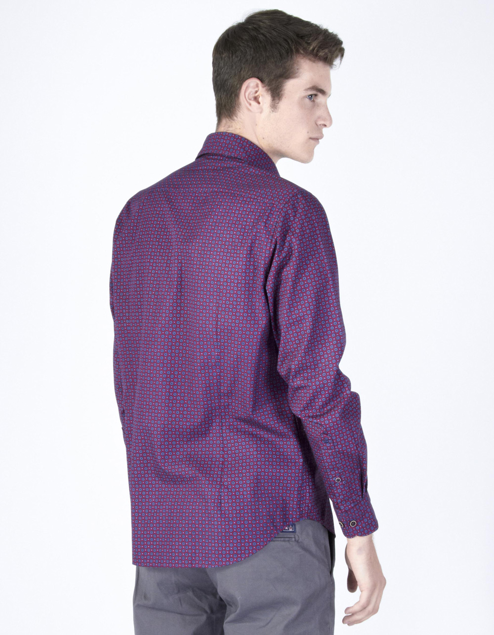 Maroon geometric shirt - Backside