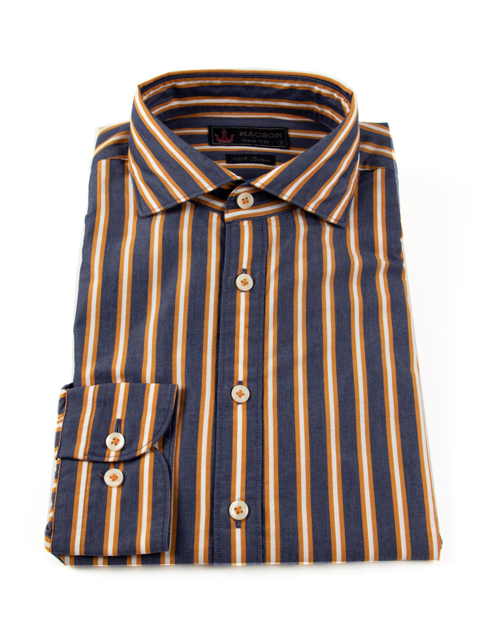 Blue and orange striped shirt - Backside