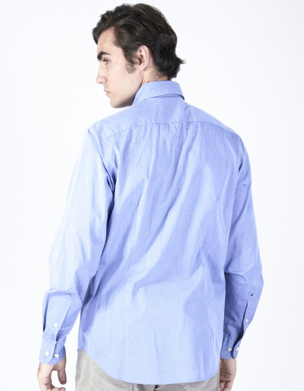 Pinstripe structure shirt - Backside