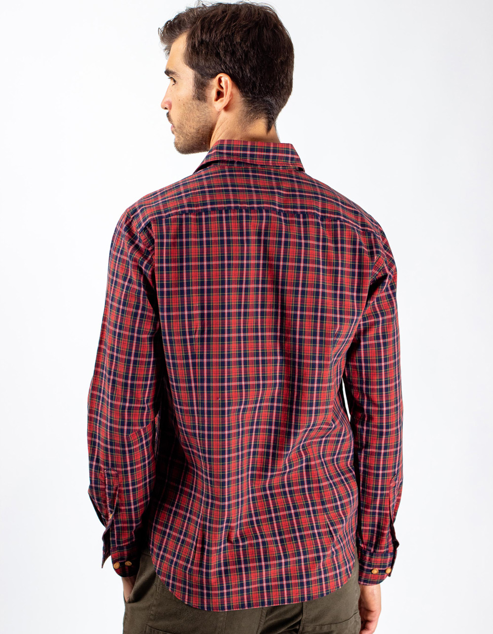 Tartan plaid shirt - Backside