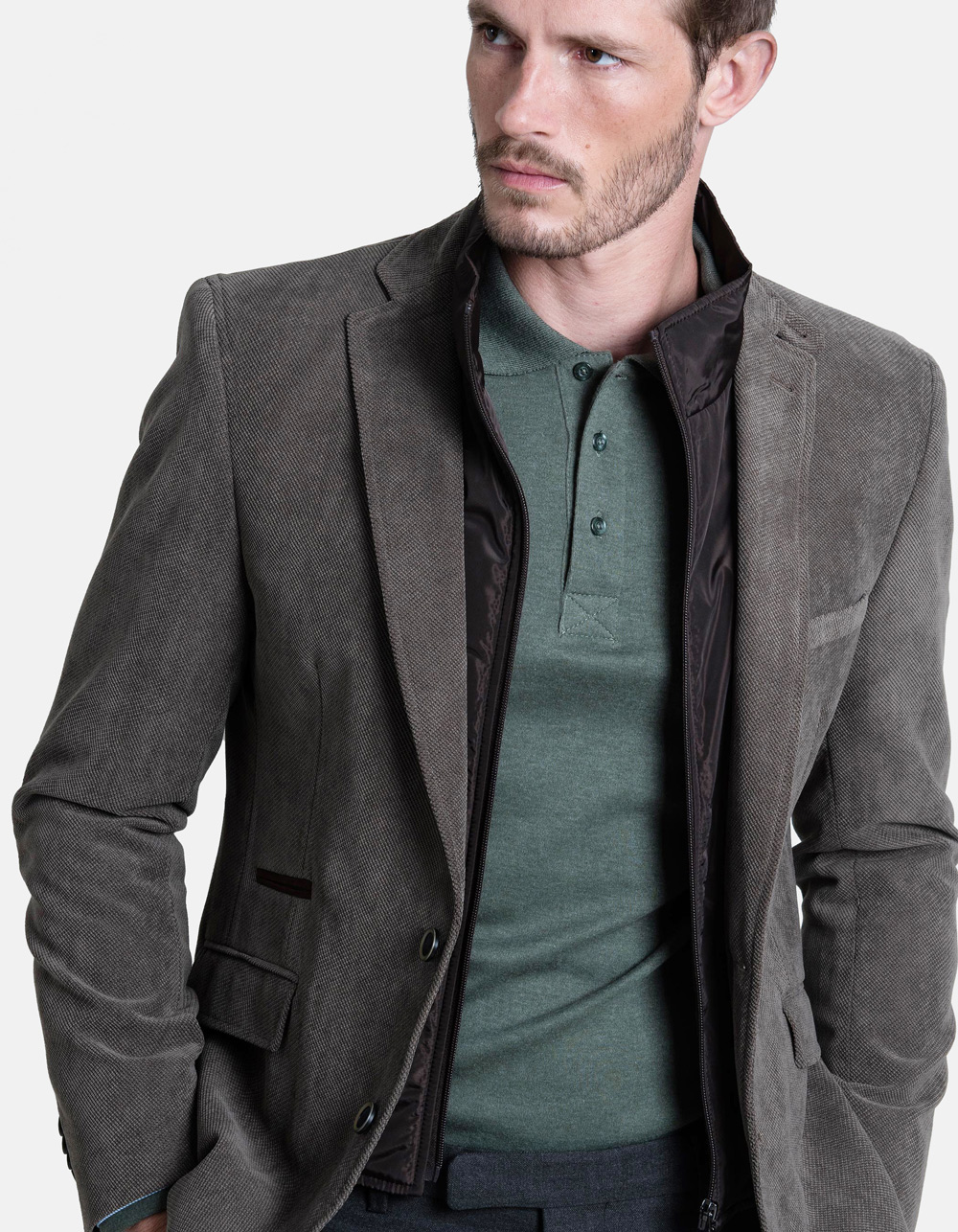 Brown sport front blazer