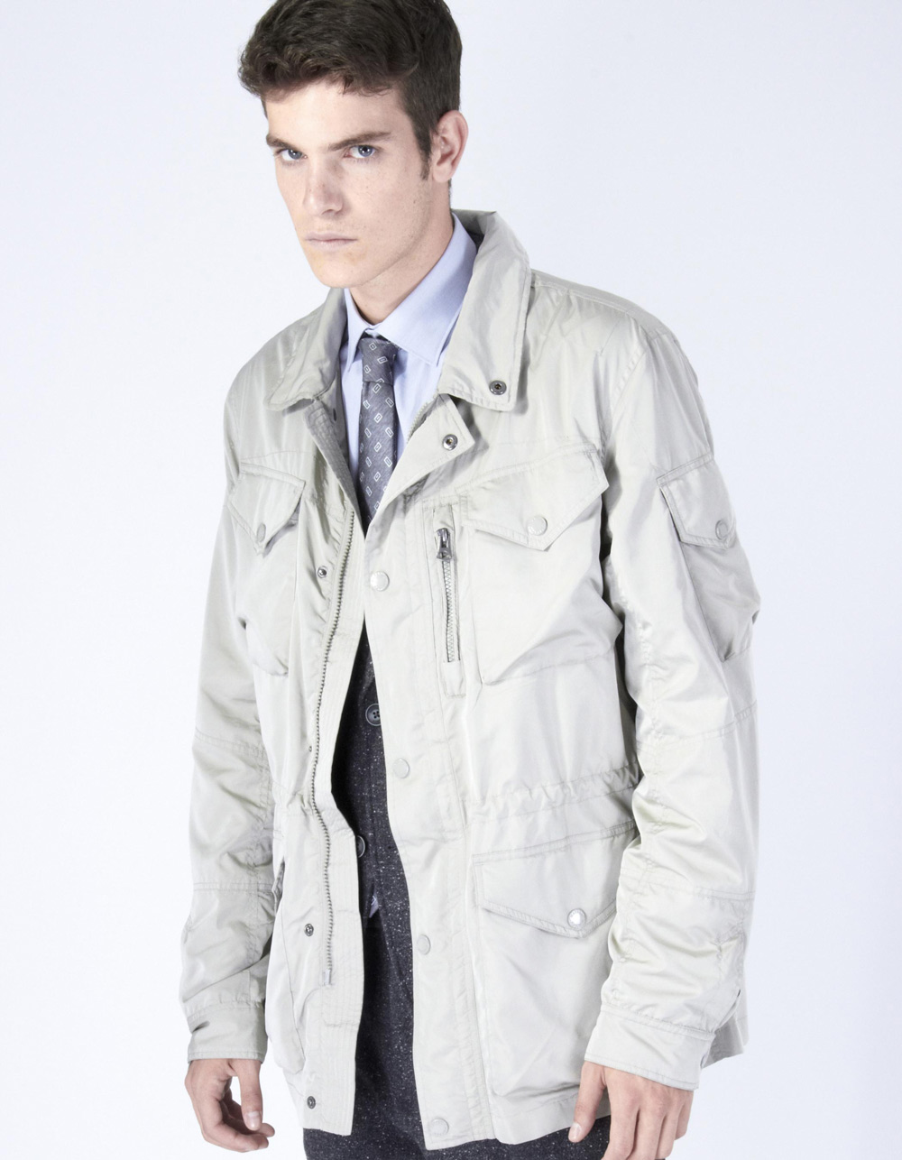 Grey parka with pockets