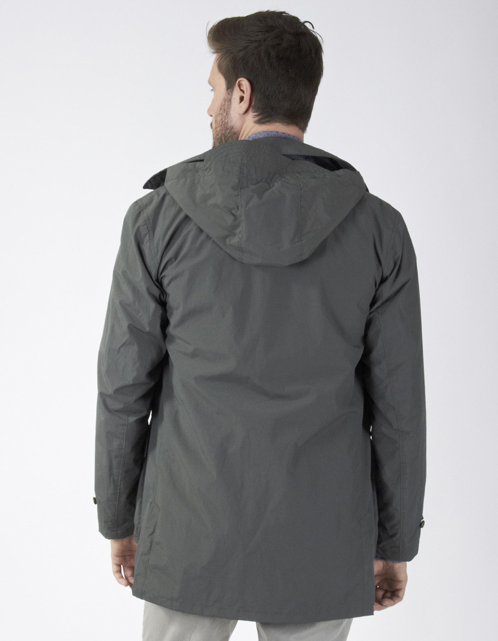 Oversize camouflage parka - Backside