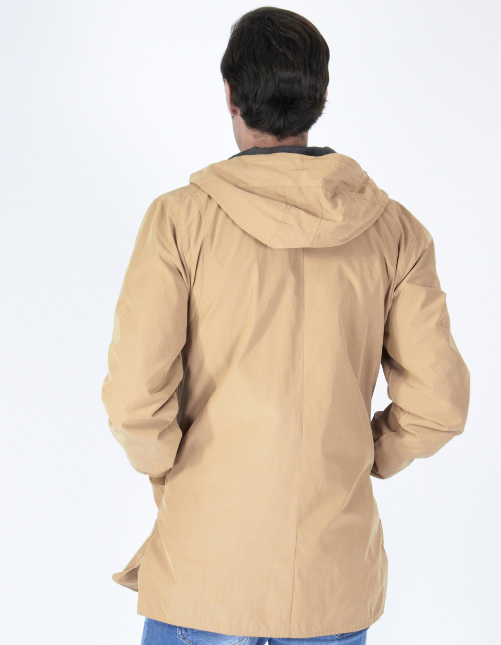 Camel parka with hood - Backside