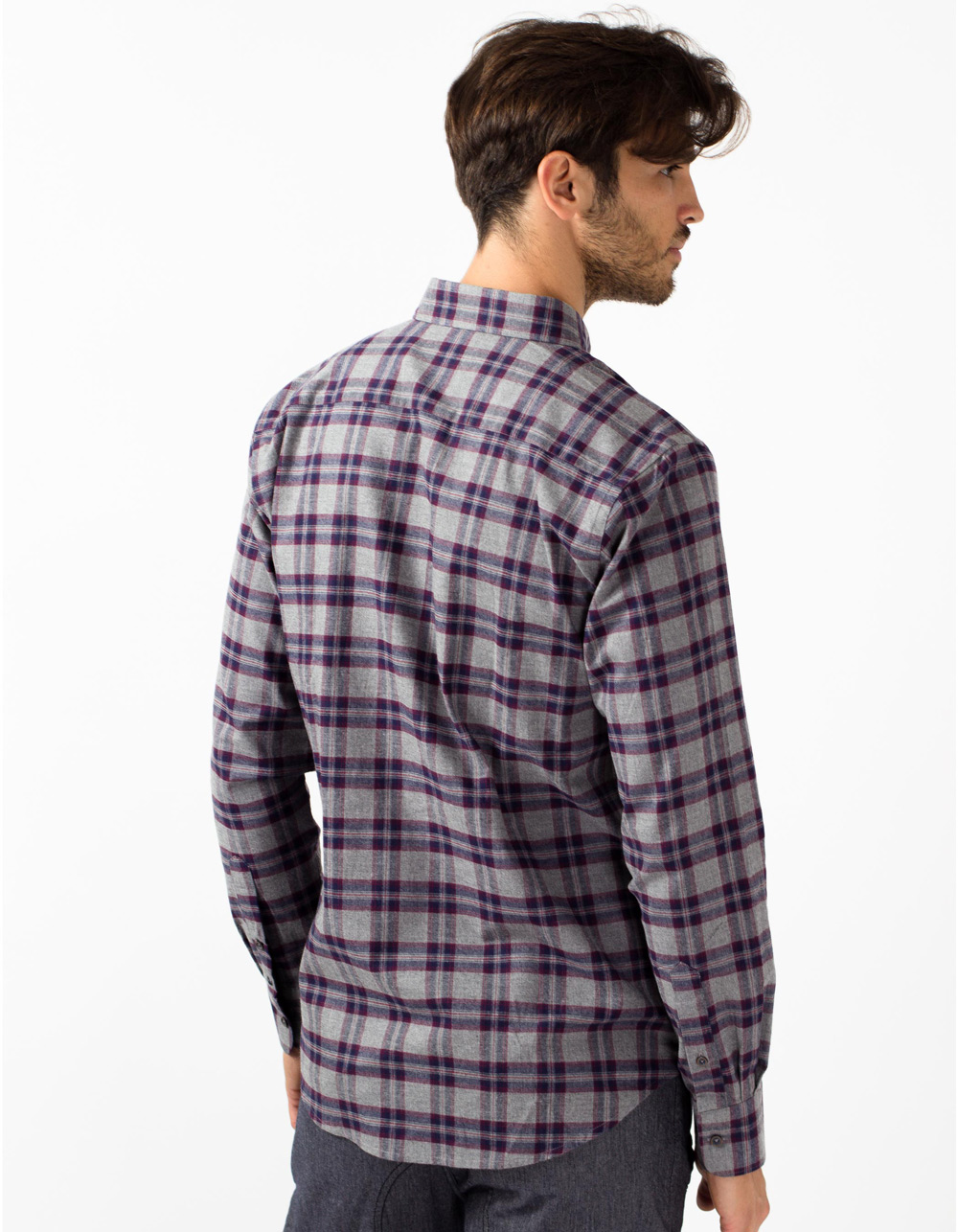 Grey plaid shirt - Backside