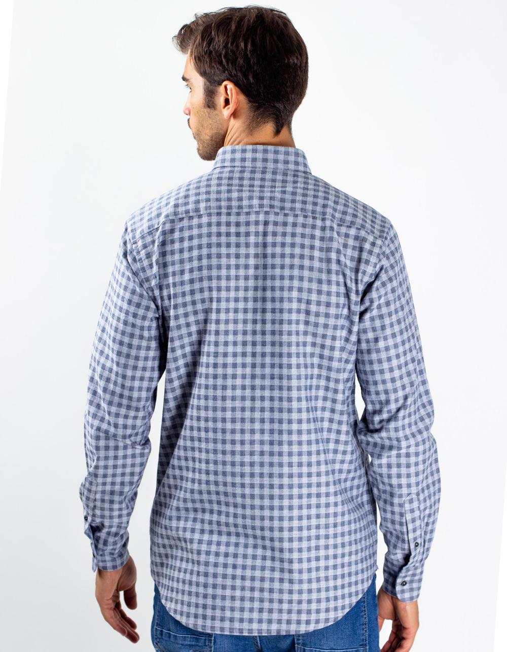 Camisa de cuadros gris - Backside