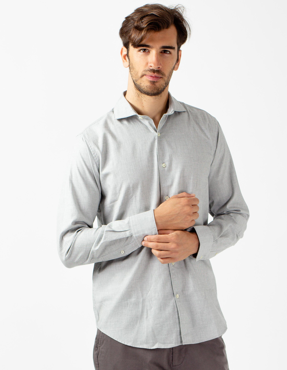 Grey Oxford shirt