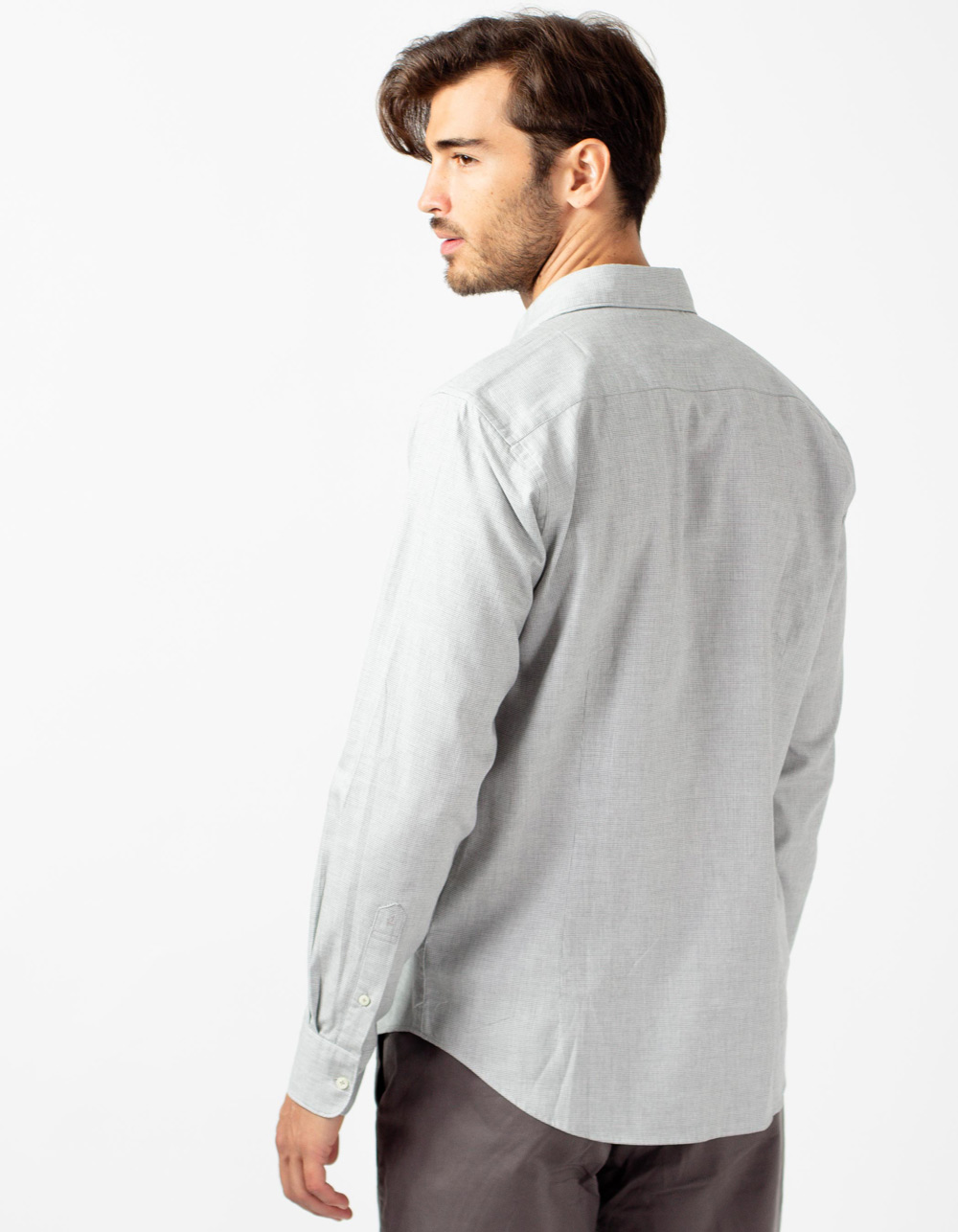 Grey Oxford shirt - Backside