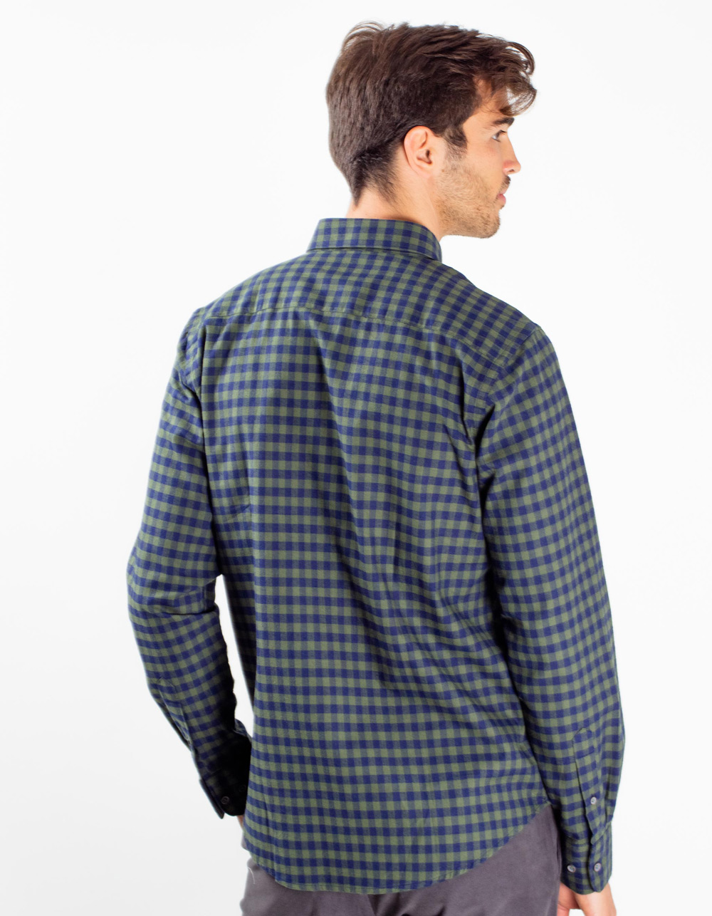 Camisa de cuadros verde - Backside