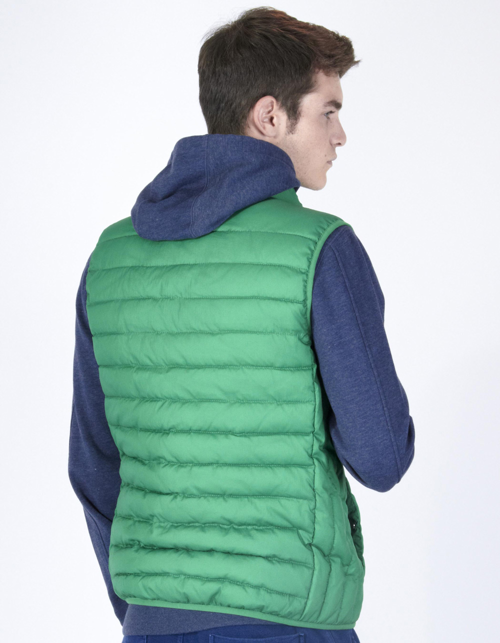 Green quilted vest - Backside