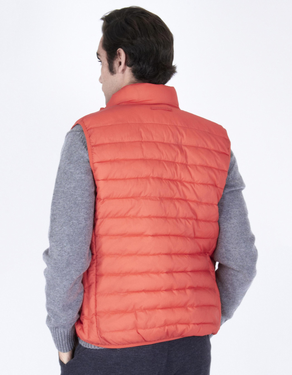 Orange quilted vest - Backside