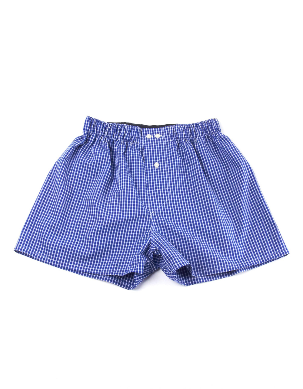 Blue and white micro plain boxer shorts