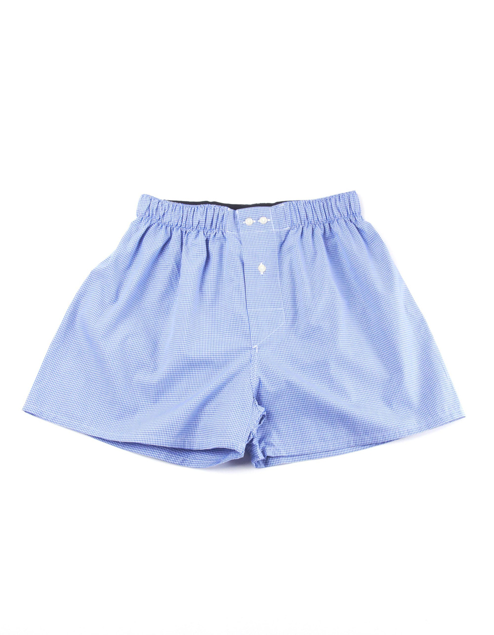 Blue micro plain boxer shorts