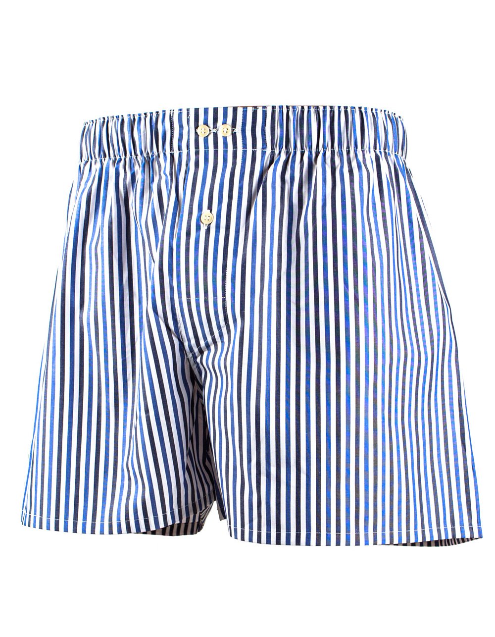 Blue and white micro stripes boxer shorts
