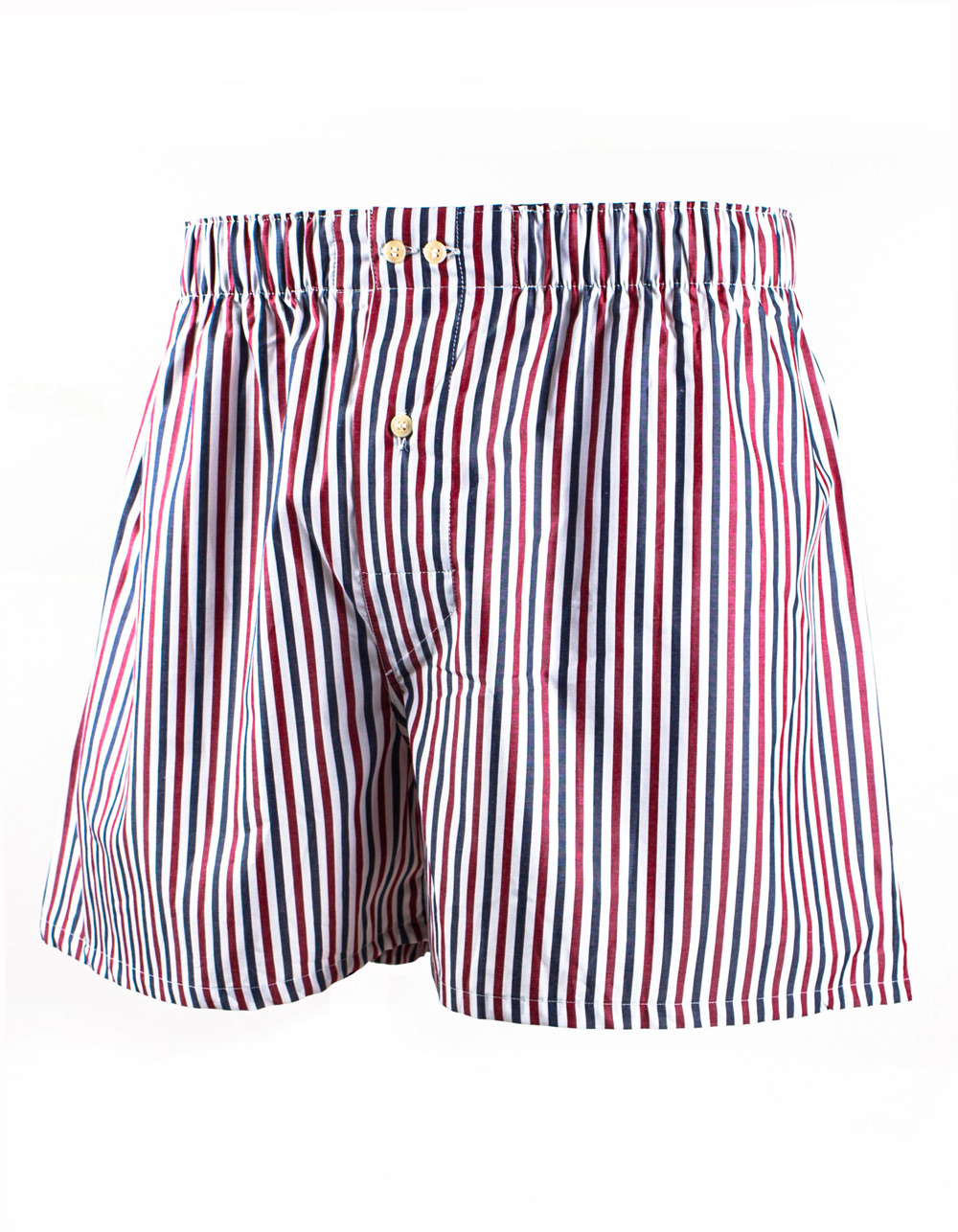 Blue and bordo micro stripes boxer shorts