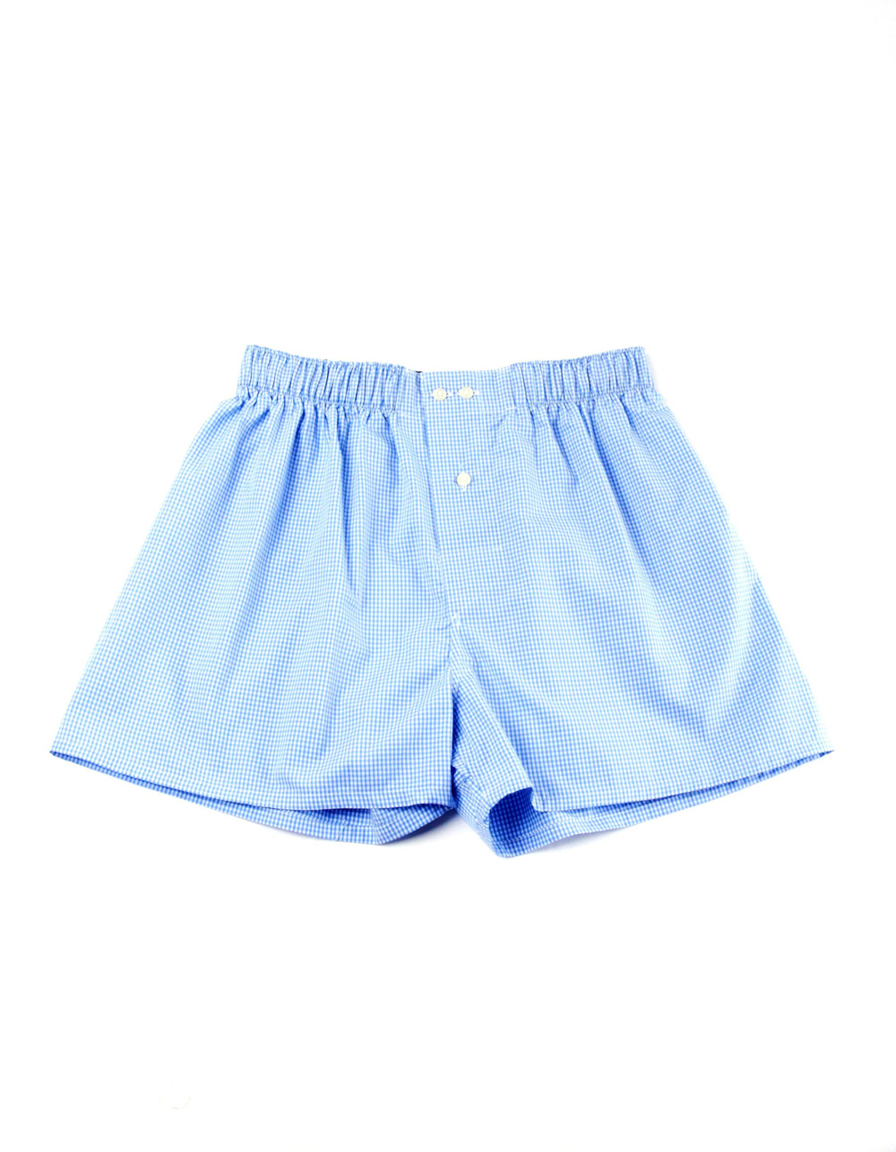 Light blue boxer shorts