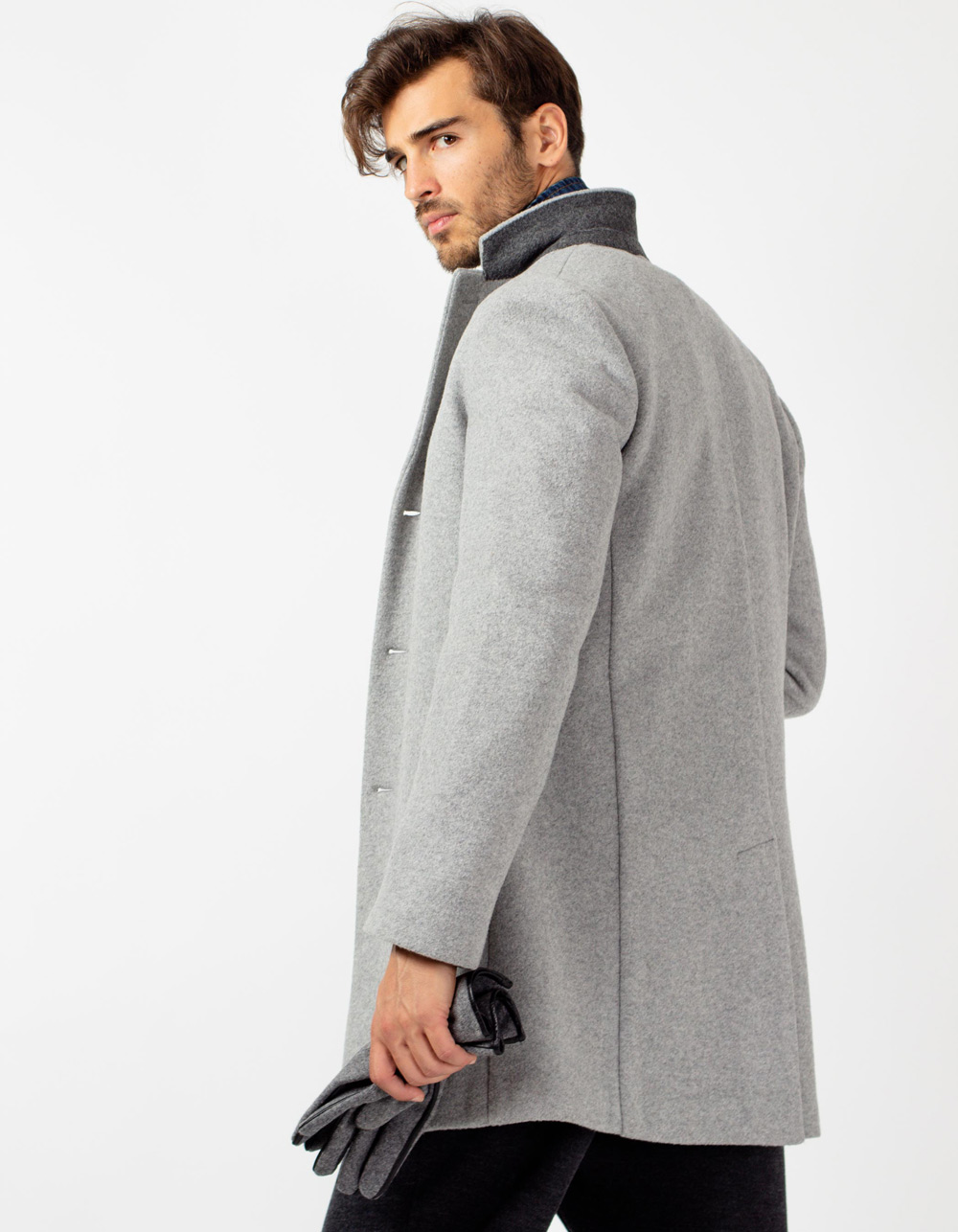Wool Grey long trench - Backside