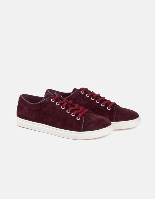 Maroon suede sports