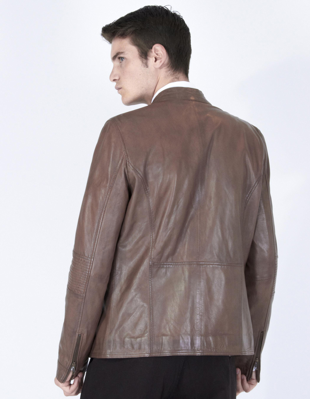 Brown biker jacket - Backside