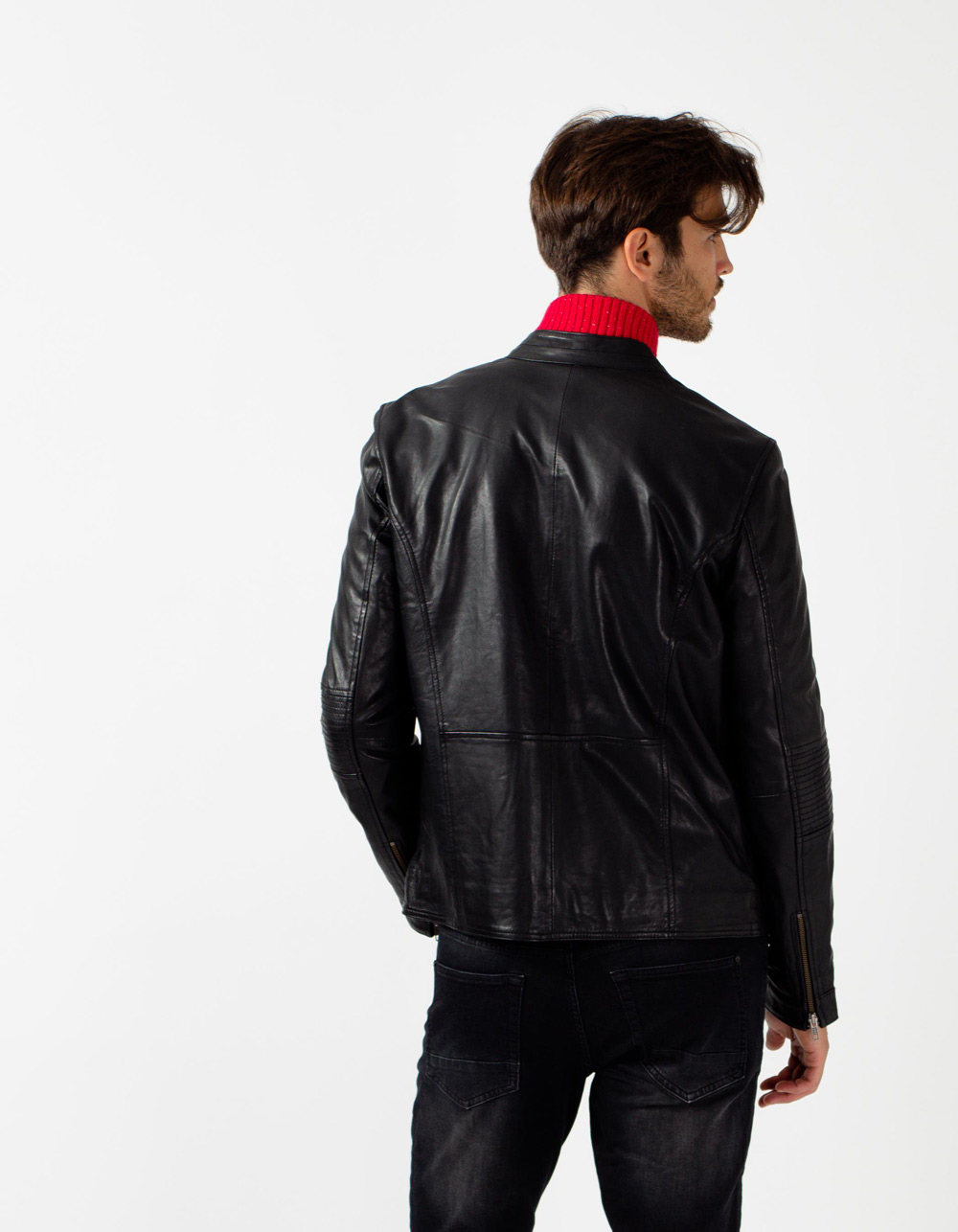 Black biker jacket - Backside