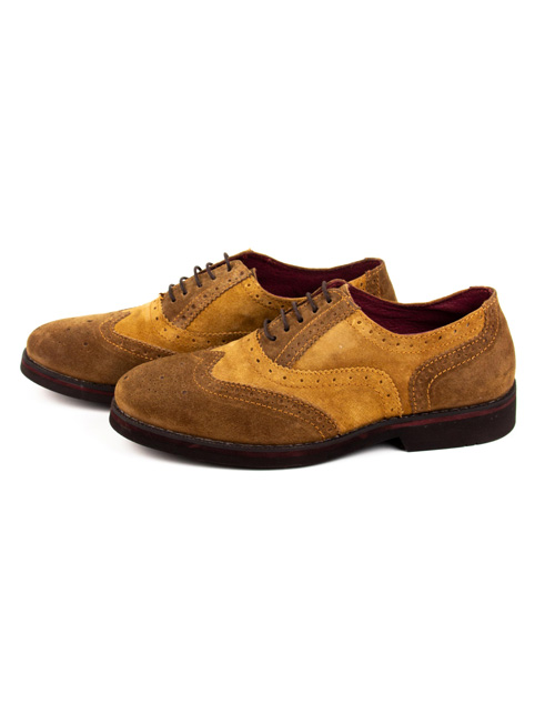 Zapatos Oxford camel