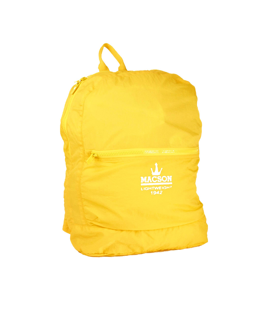 Yellow sport backpack