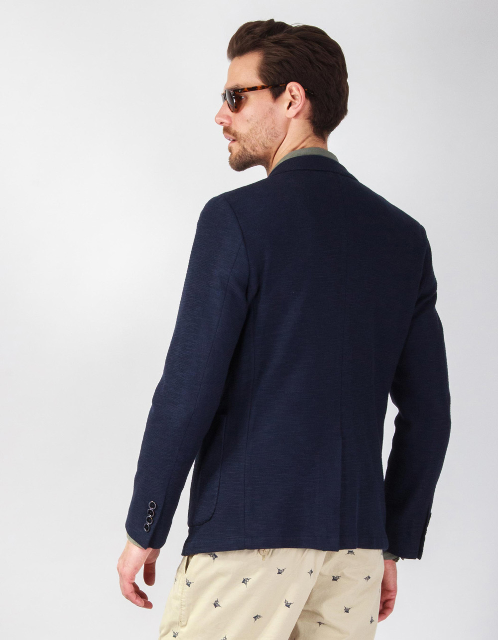 Navy blue structure blazer - Backside