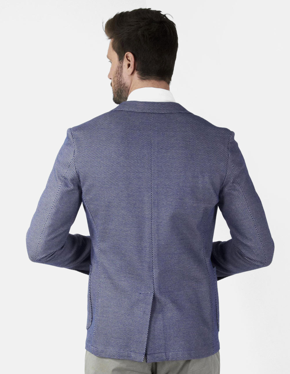 Blue structure blazer - Backside