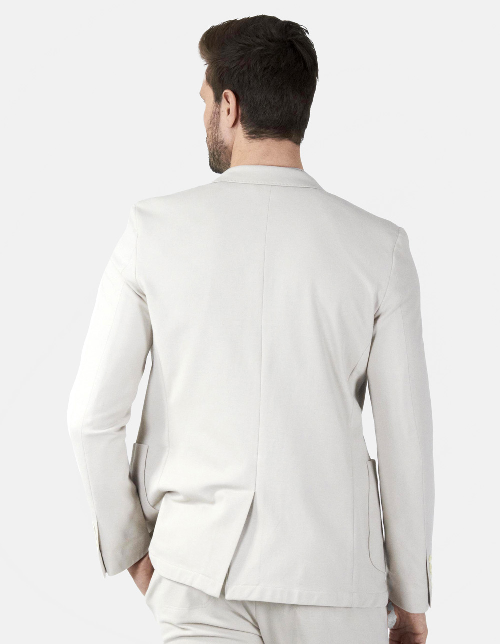 White plain blazer - Backside
