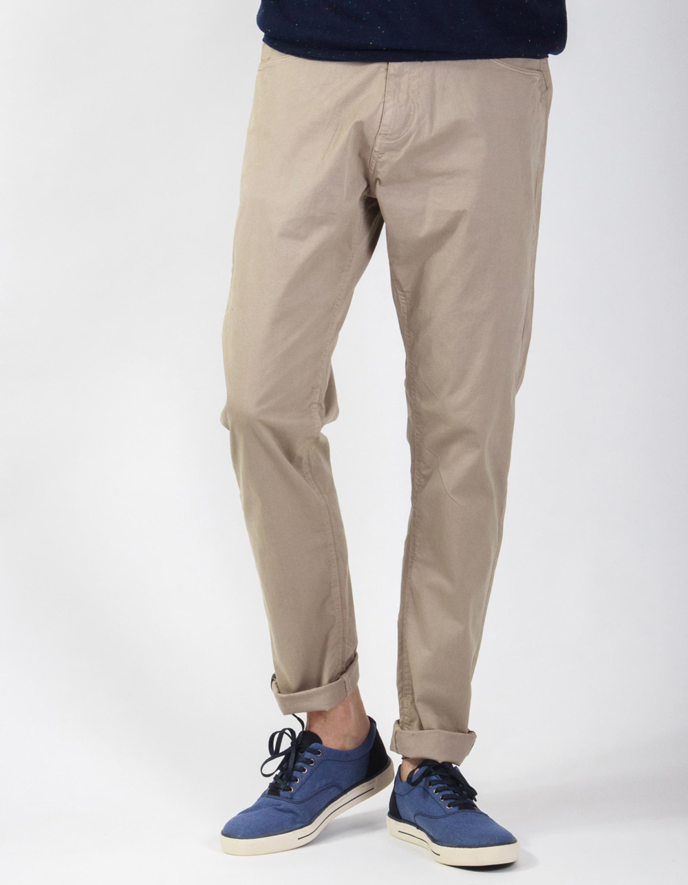 Sand semi-dress stretch trousers