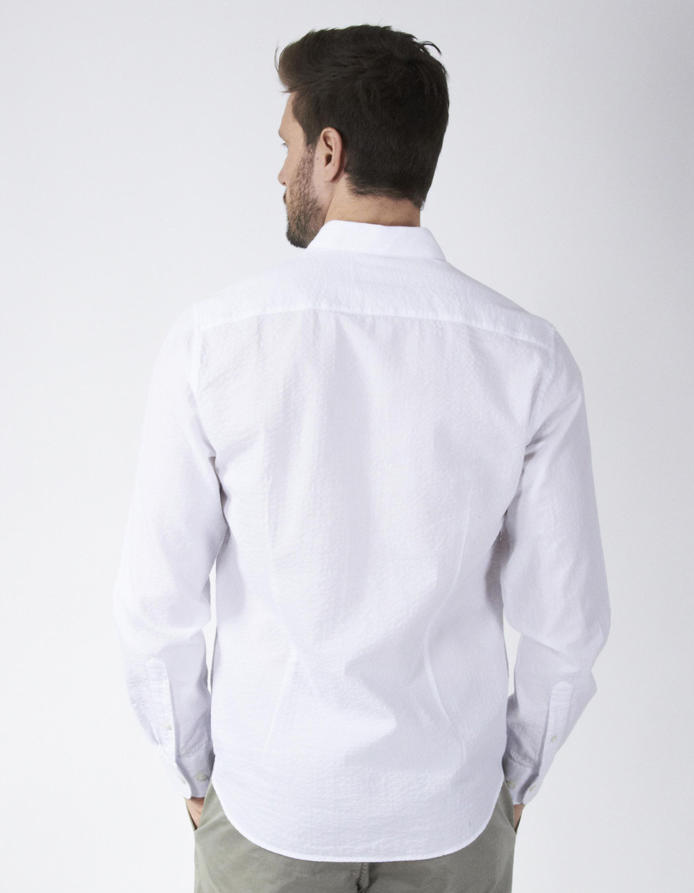 White gathered shirt - Backside