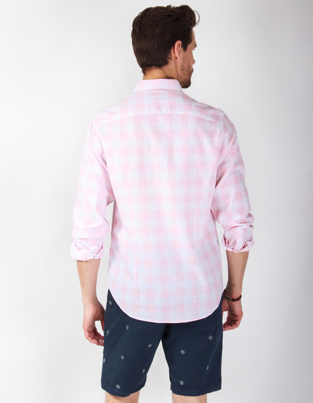 Pink plaid shirt - Backside