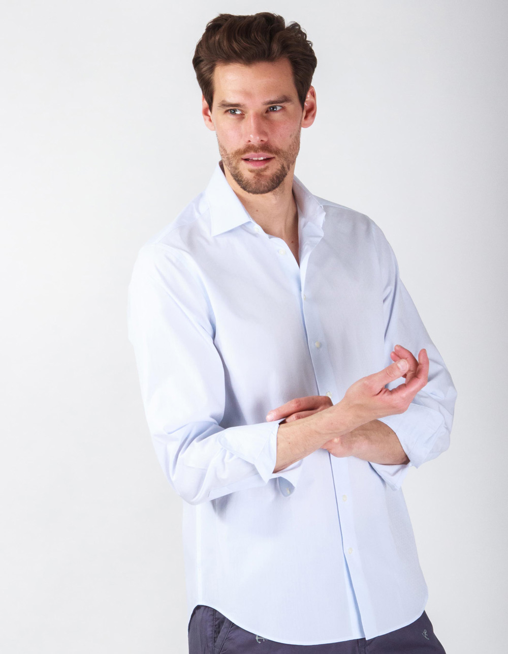 Blue structure shirt