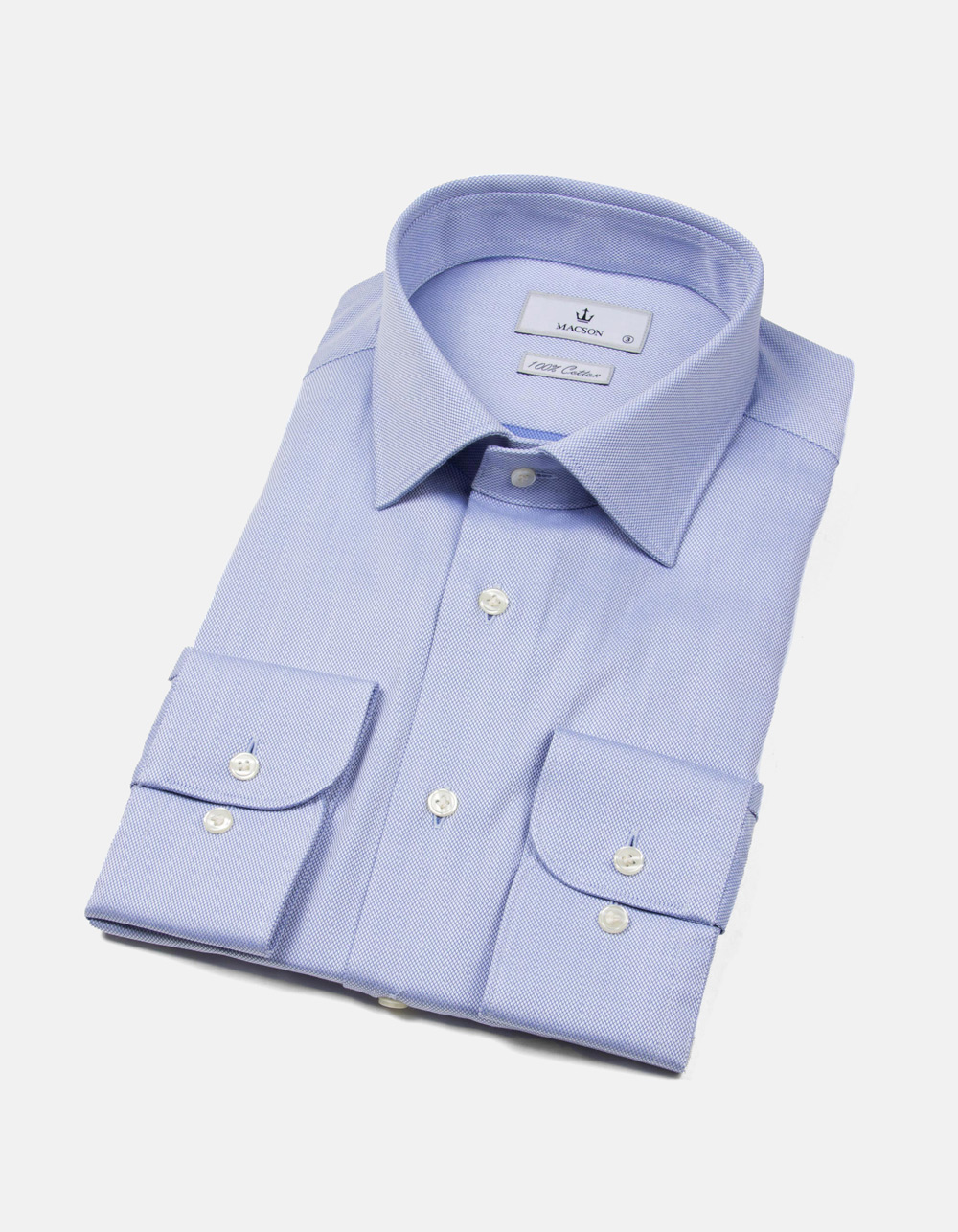 Blue and white Oxford shirt