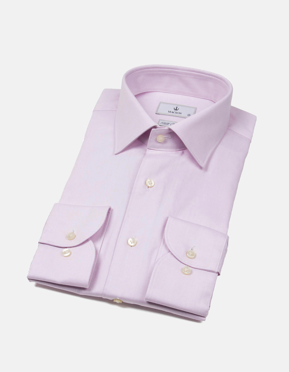 Camisa microestructura rombo rosa
