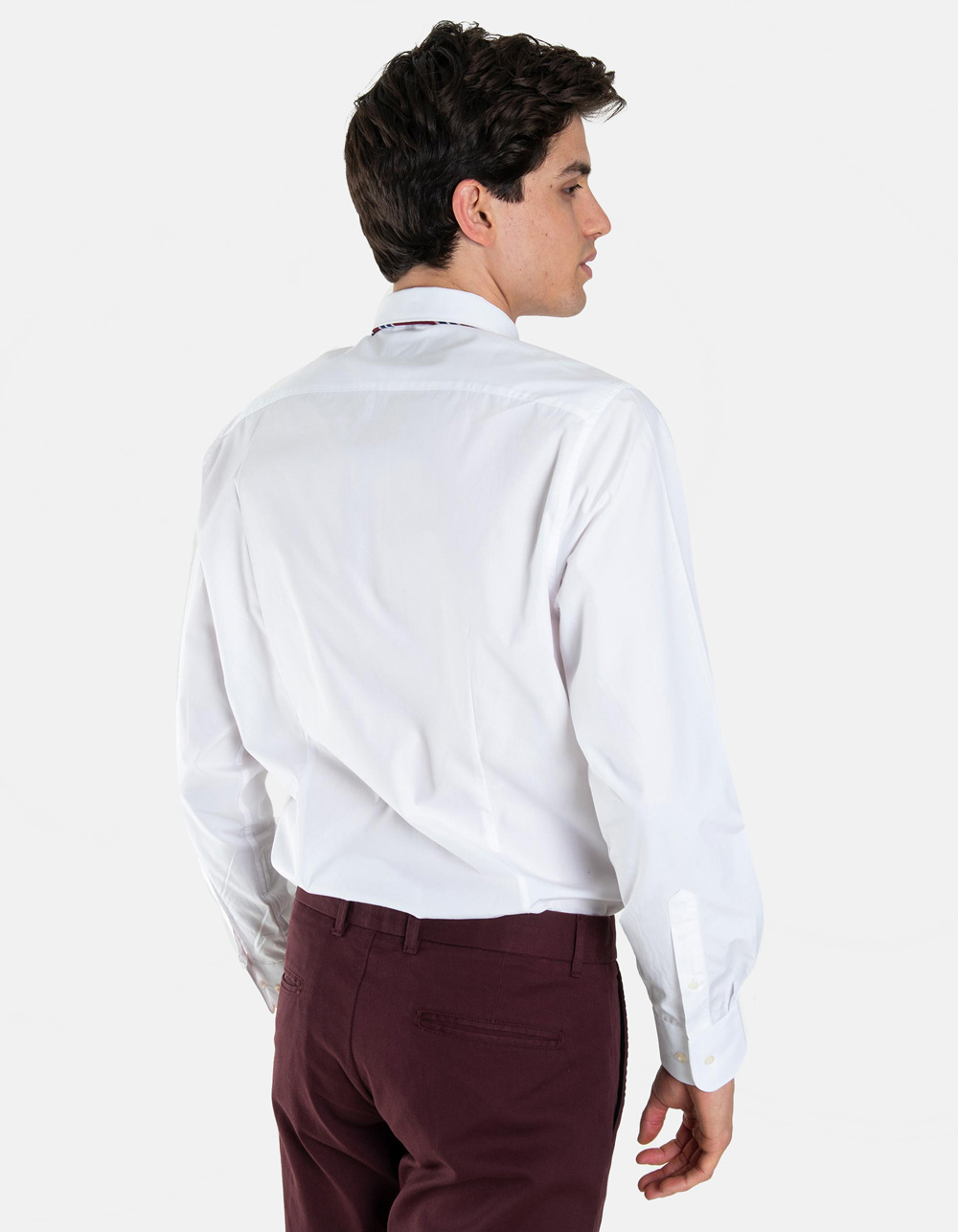 White plain dress shirt - Backside