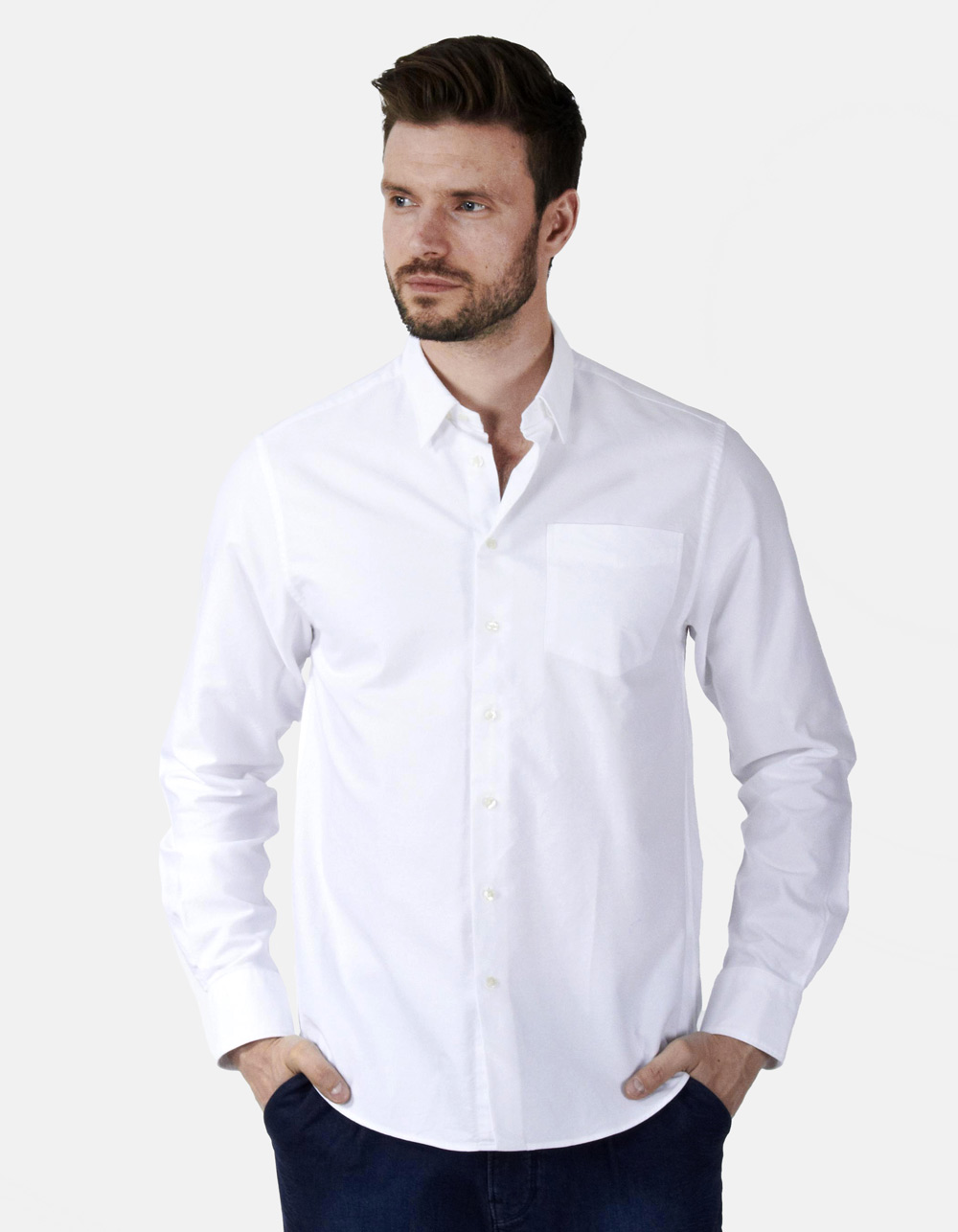 White Oxford plain shirt