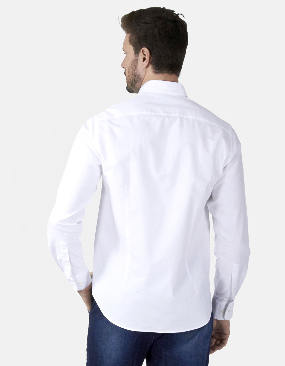 White Oxford plain shirt - Backside