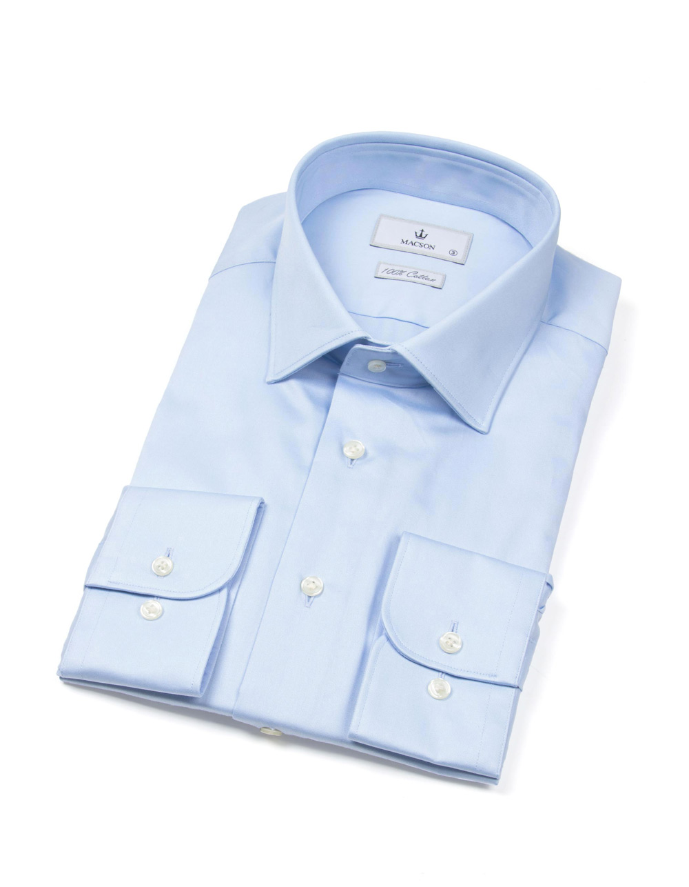 Blue fil à fil shirt