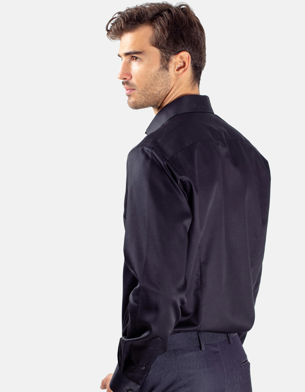 Black plain shirt - Backside