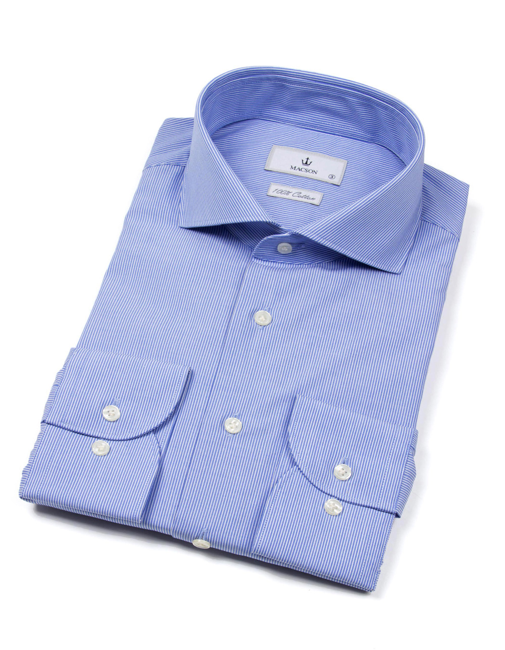 Blue pinstripes shirt