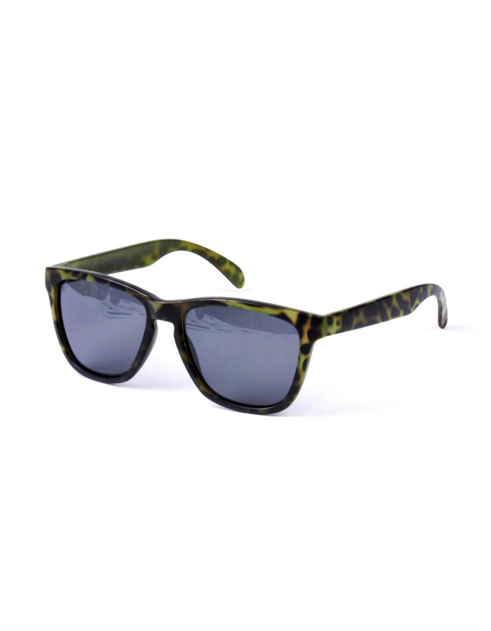 Black sunglasses retro camouflage