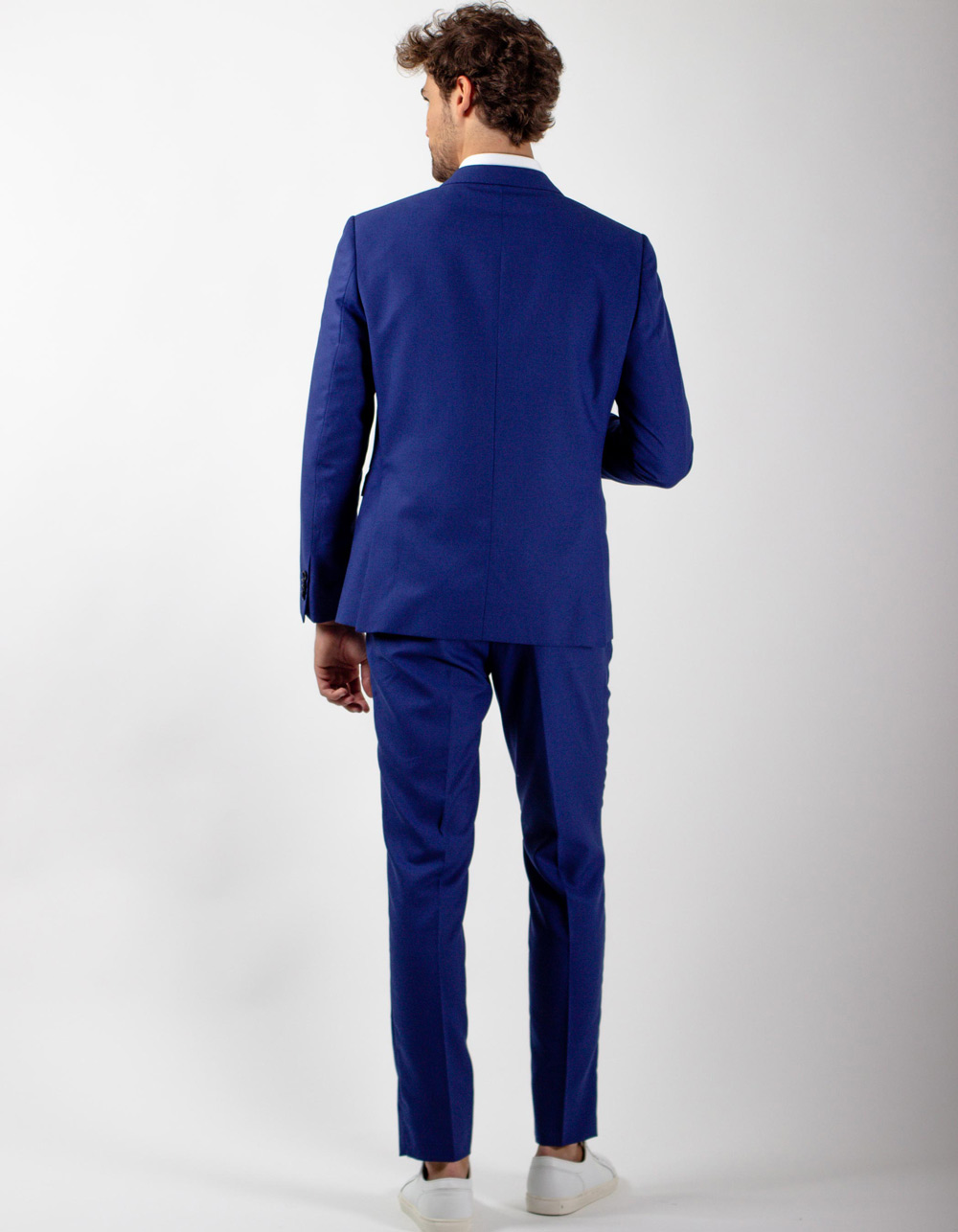 Blue fil a fil suit - Backside