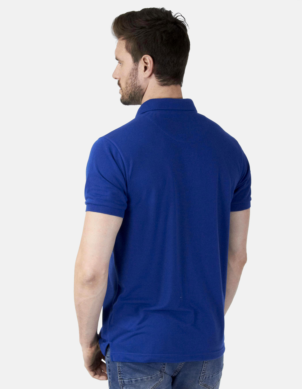 Polo piqué azul - Backside