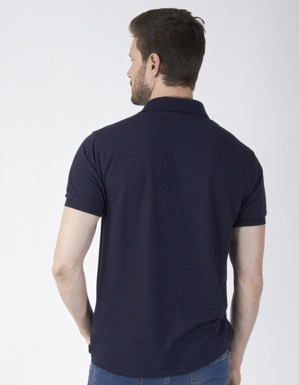 Polo piqué azul marino - Backside