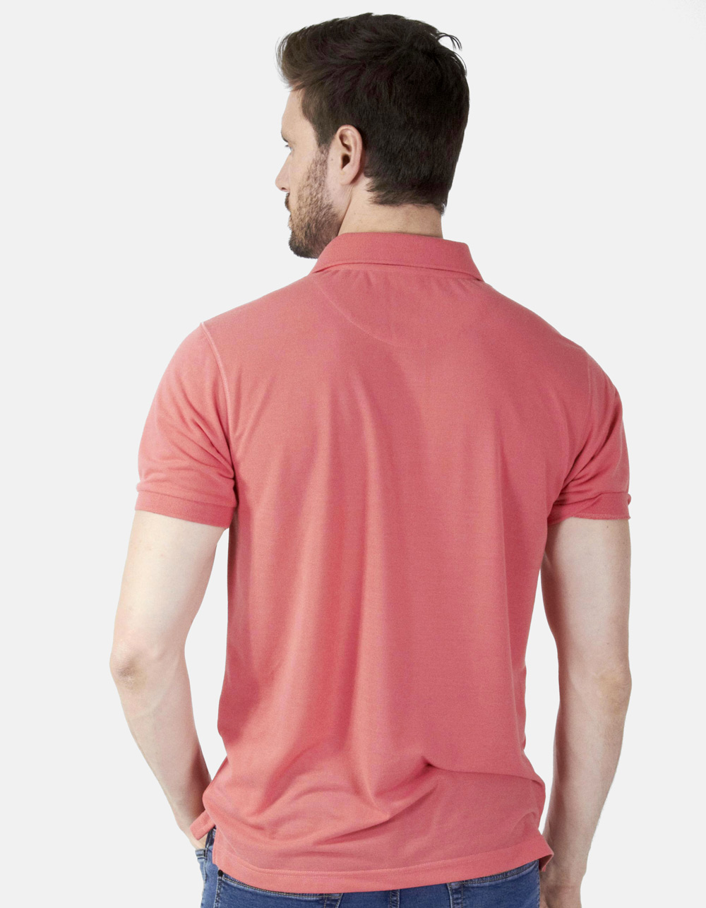 Polo piqué coral - Backside