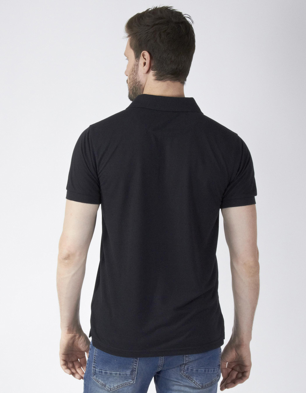 Polo piqué negro - Backside